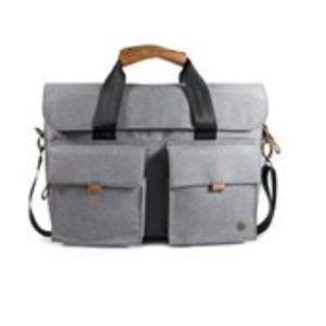 PKG Slim Brief Plus Messenger Bag (Light Gray)